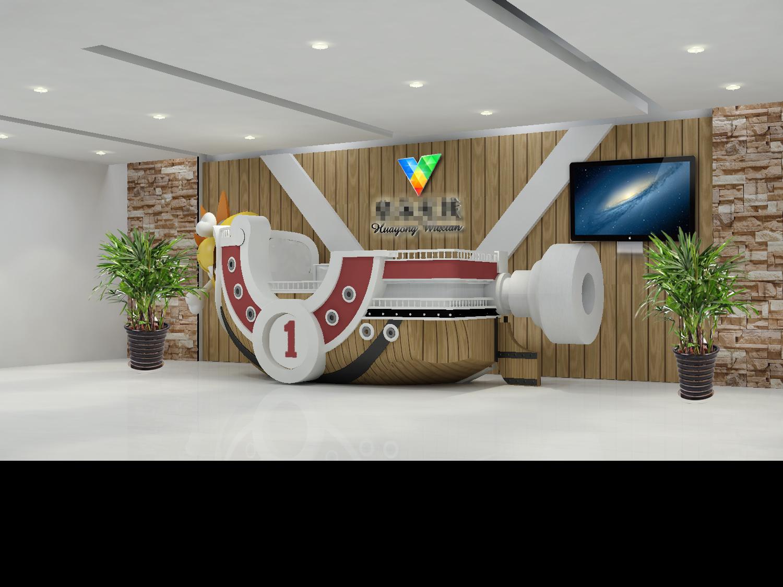 海贼王系列 企业形象墙和前台设计图片