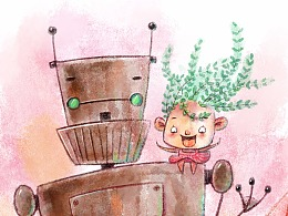 儿童插画中数码水彩的画法