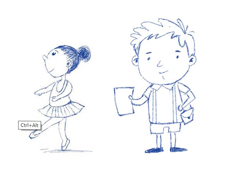 儿童插画板绘学习002 人物临摹练习