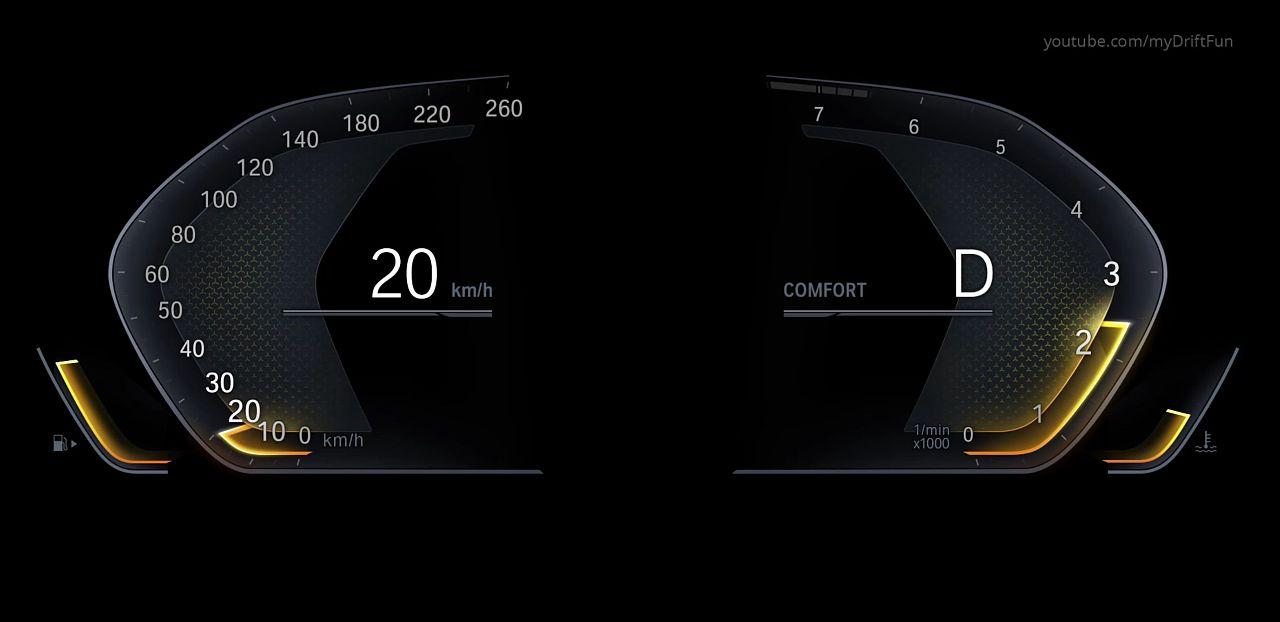 汽车液晶仪表盘界面设计图片