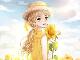 盛夏如花向阳不变