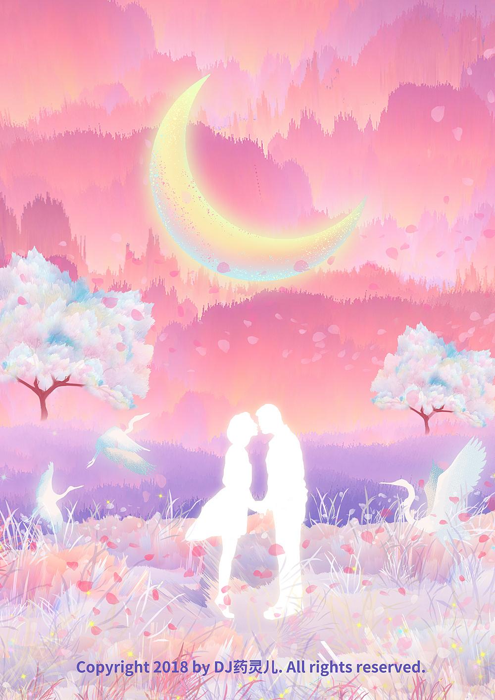 唯美樱花树下情侣头像图片_单张头像_美头网