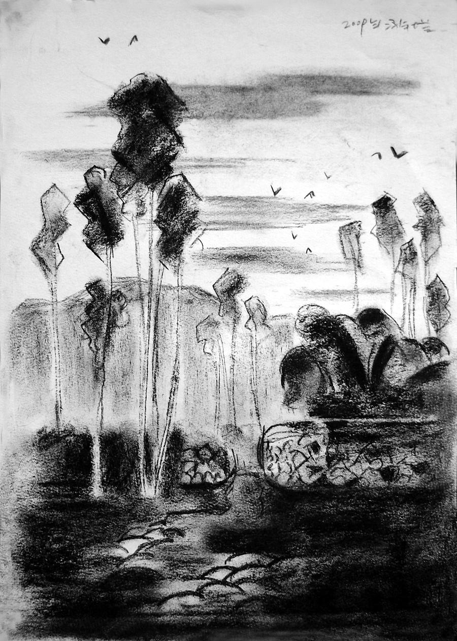 查看《09年《北方·青鸟集》作品选——零九年黑色的夏天》原图,原图尺寸:1396x1956