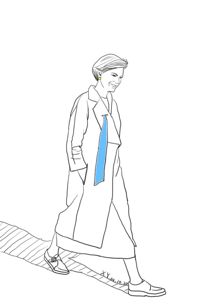 很有型的大衣,吸引我的是领子上别致的设计图片