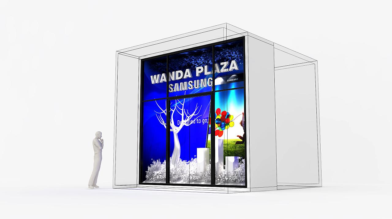 大连某地产商业街橱窗及中岛设计|空间|展示设计图片