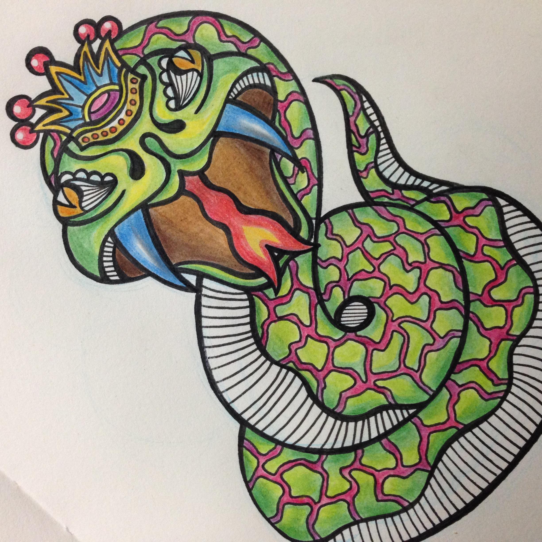 蛇王 手绘涂鸦