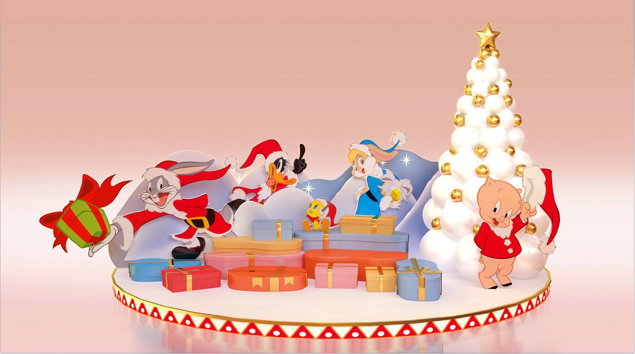 圣诞美陈设计方案-APM商场摩登狂想夜-上海品美商业美陈企业