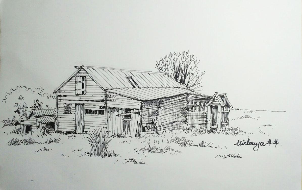 最近钢笔画以及淡彩