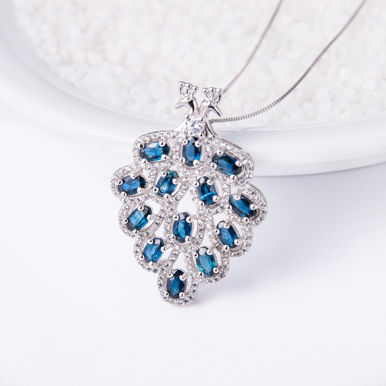 蓝宝石戒指项链