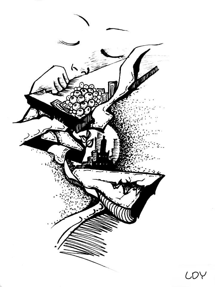 黑白手绘插画|插画|其他插画|刺仙人掌301 - 原创作品