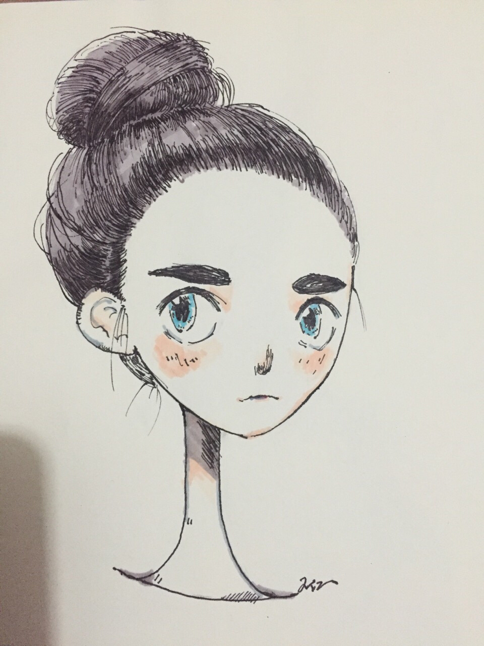 卡通女孩.马克笔