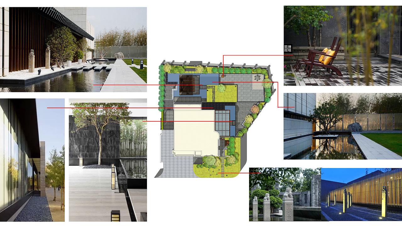 中式别墅庭院景观设计方案图片