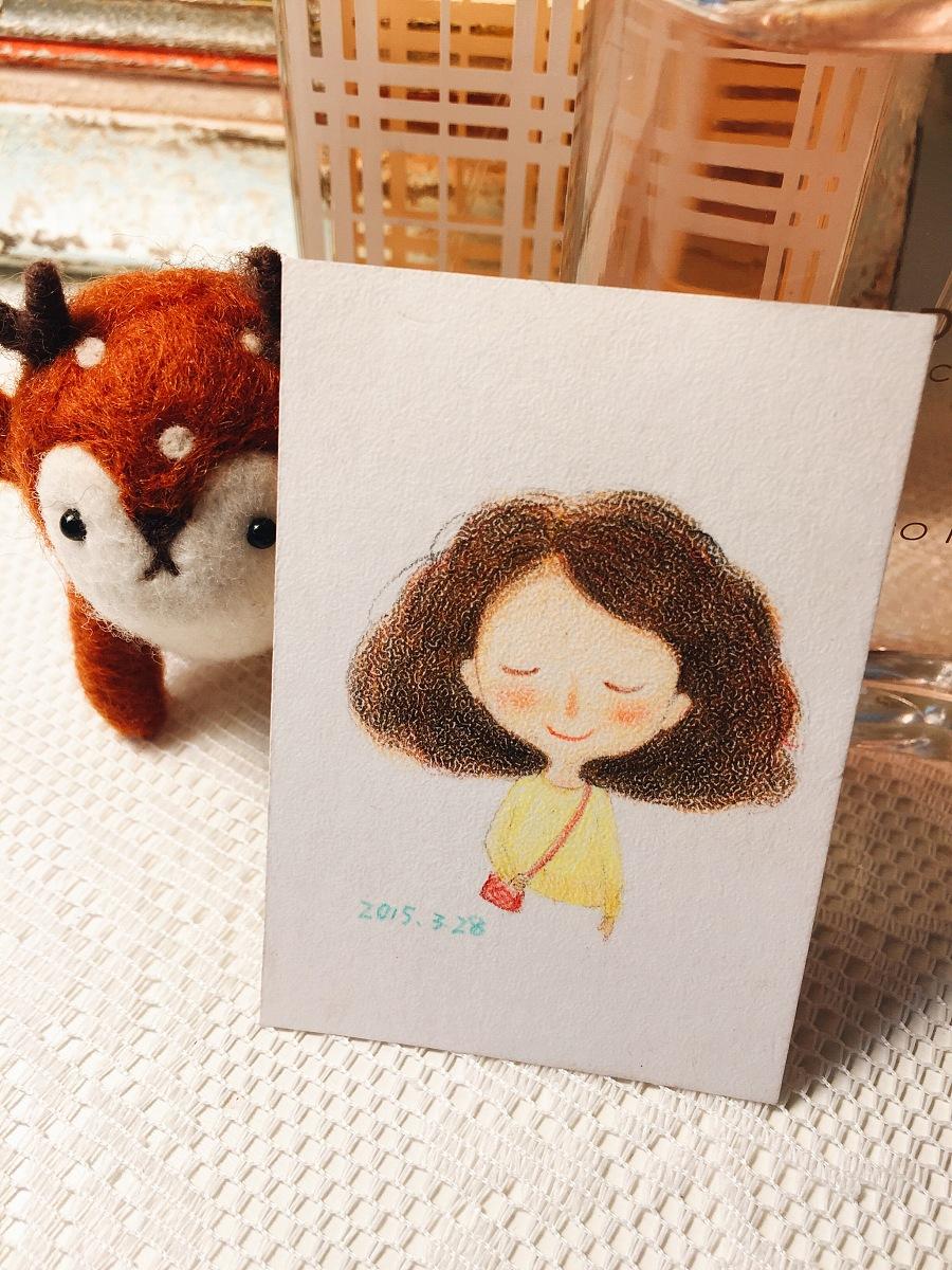 手绘彩铅小人物系列插画20|商业插画|插画|丁小婧