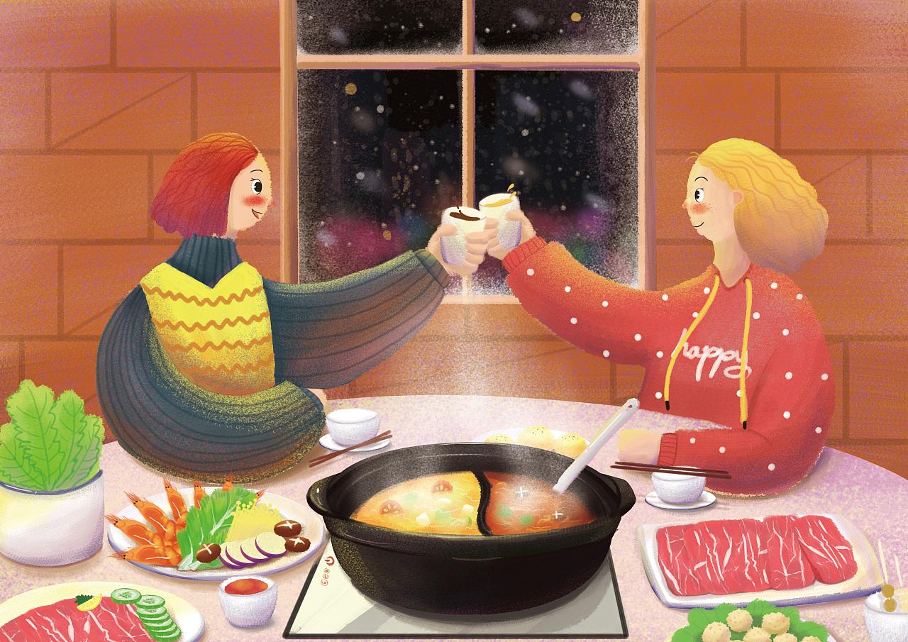 十一月,初雪的时候去吃火辣辣热腾腾的火锅
