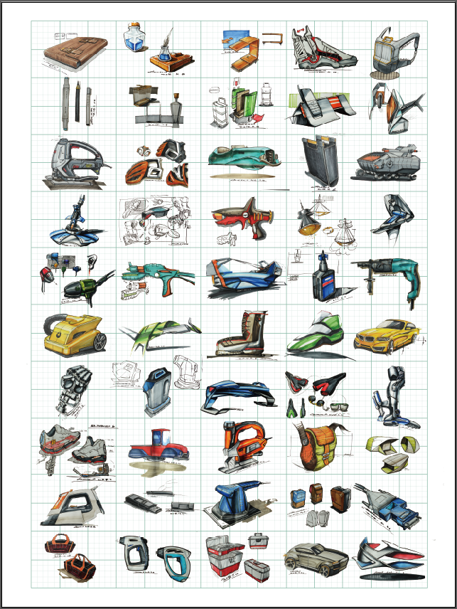 工业手绘/产品手绘效果图