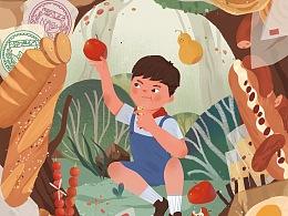 果麦文化《宝葫芦的秘密》绘制插图
