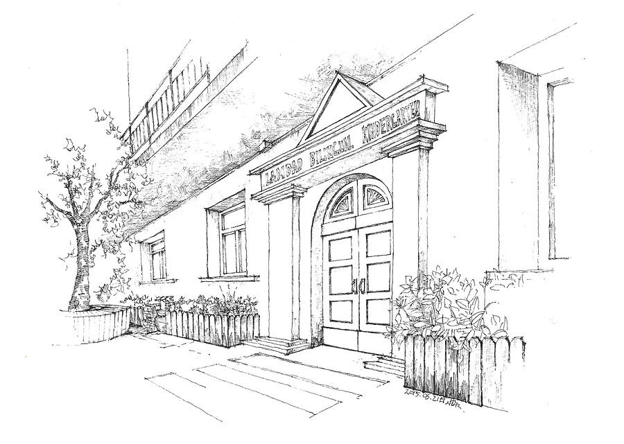 幼儿园设计的手绘图(线稿)|室内设计|空间/建筑|三