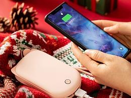 圣诞主题暖手宝充电宝详情