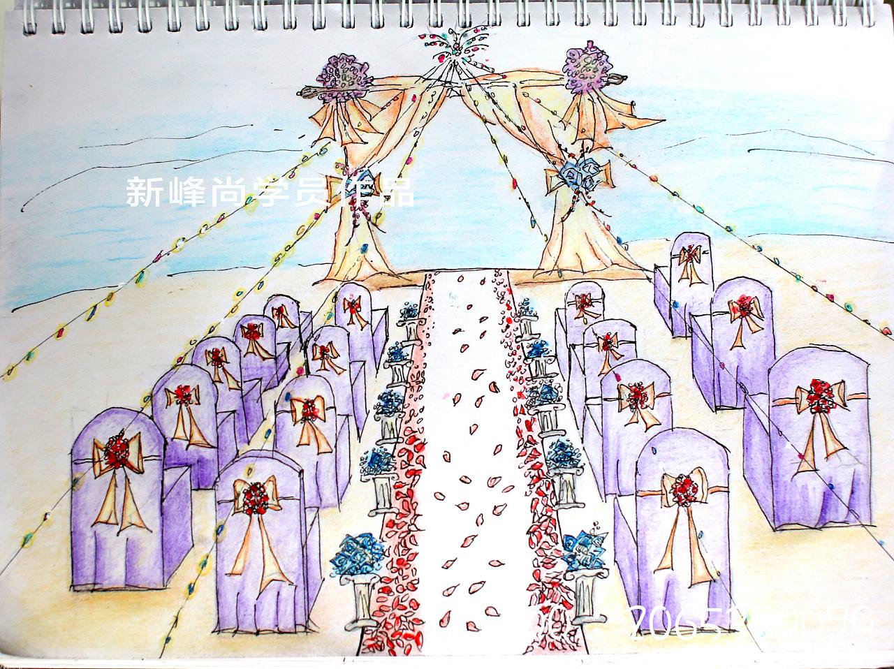 婚礼手绘效果图 零基础婚礼手绘