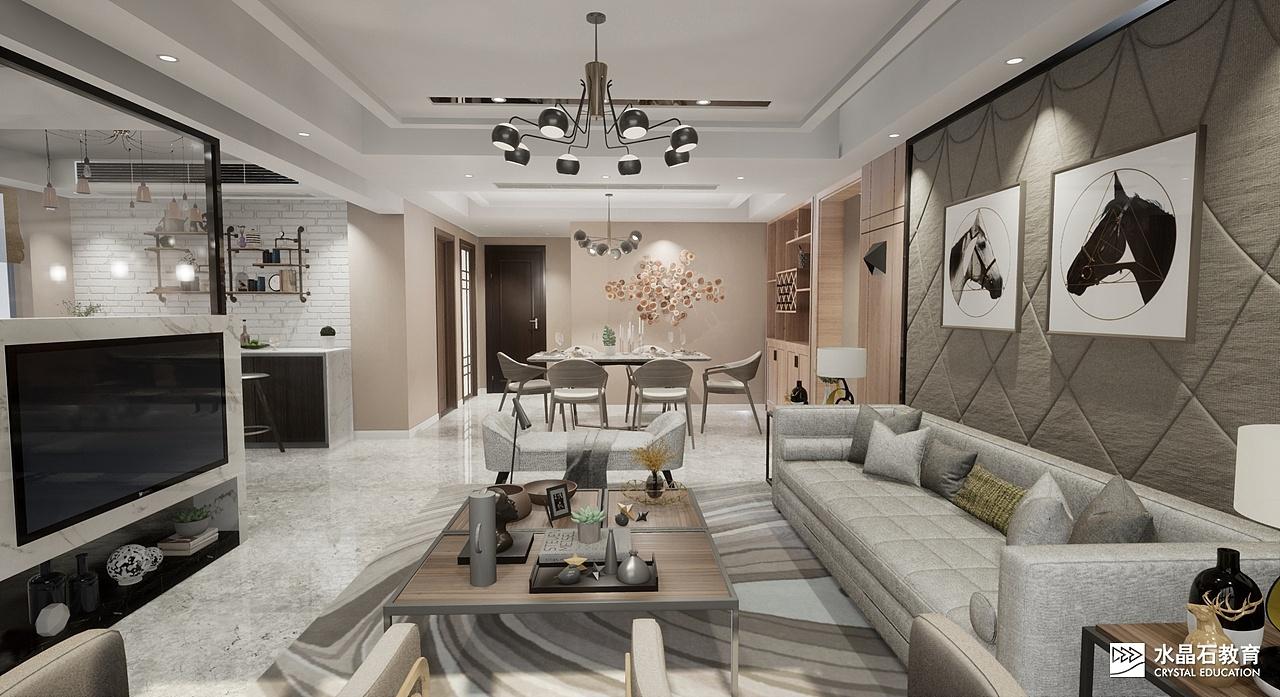 ue4-住宅作品|空间|室内设计|广州水晶石教育 - 原创图片