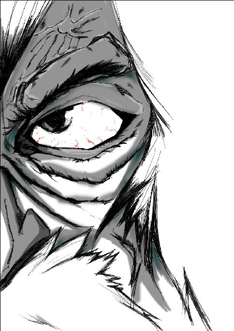 半脸人物手绘练习|动漫|绘本|funky林蹦跶 - 原创作品
