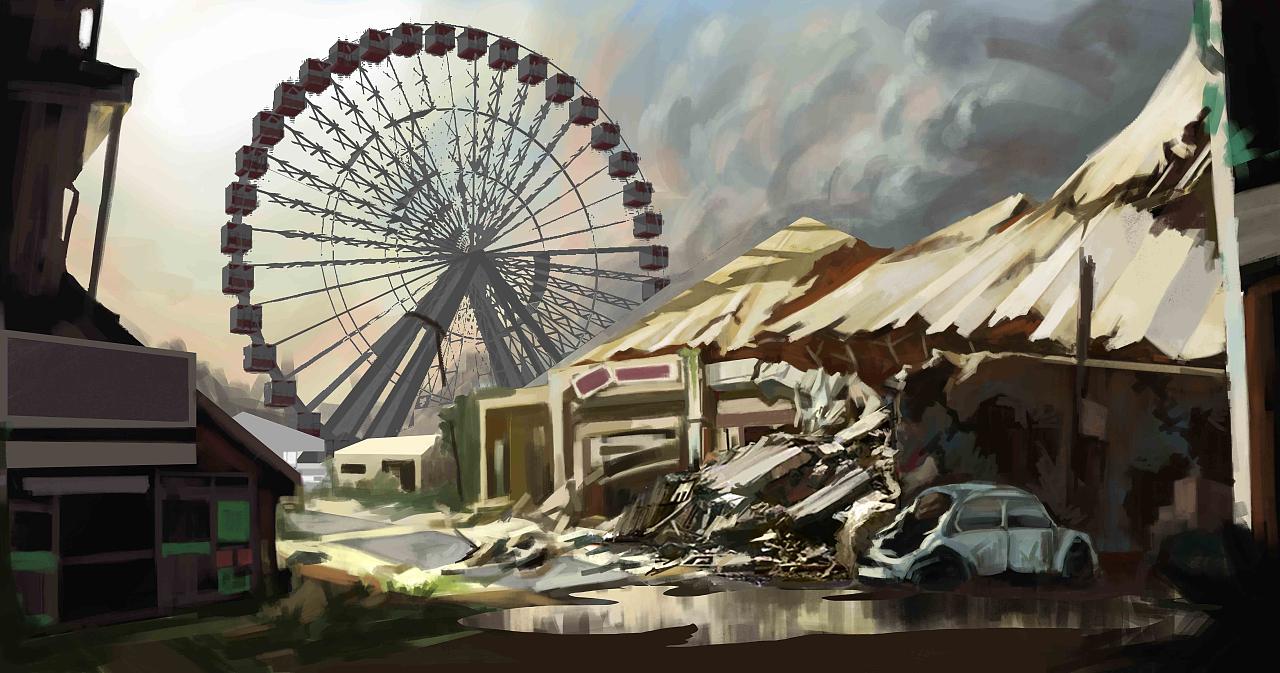 [原创]场景练习--末日游乐园