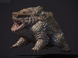 麒麟蛙 怪物 3D作品
