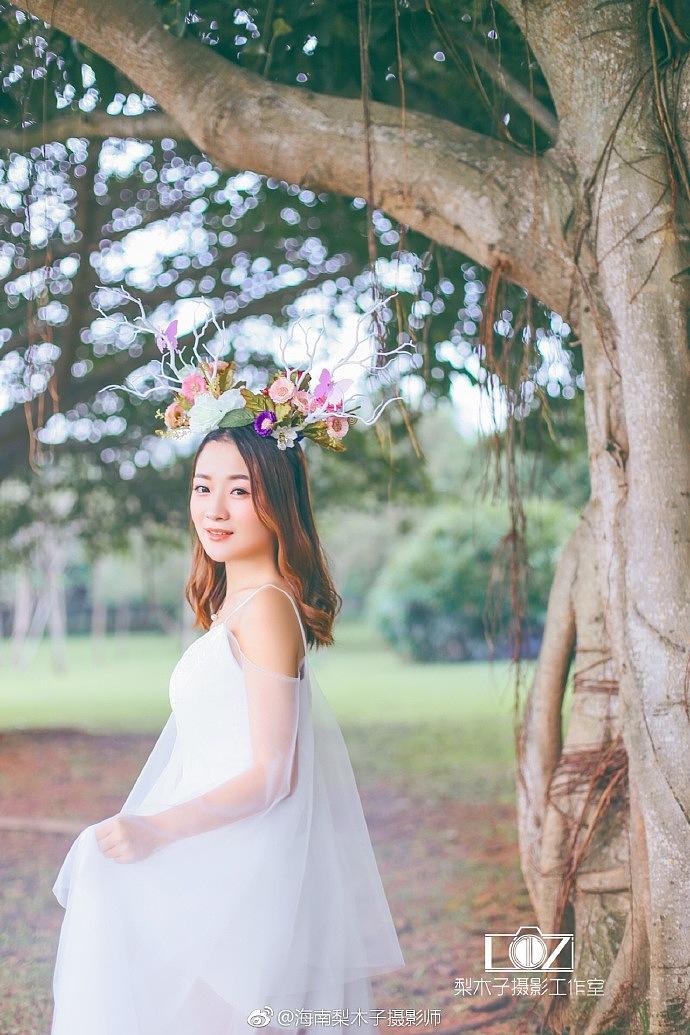 森林系个人婚纱照图片