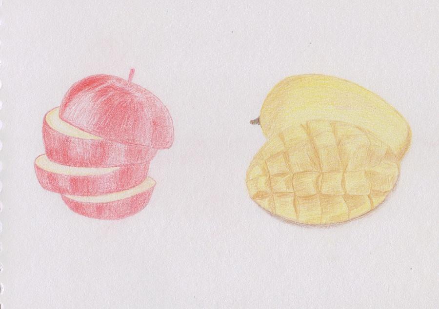 手绘彩铅_水果