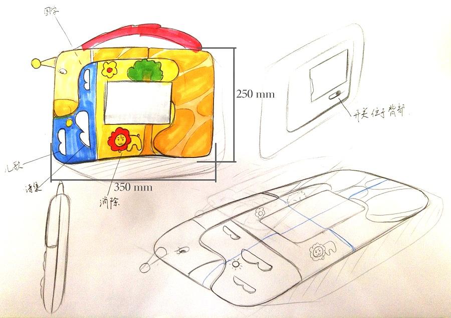 【久久来一次】 儿童手绘板设计