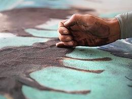 一天就消失的大地艺术,十天十夜绘制巨型沙画