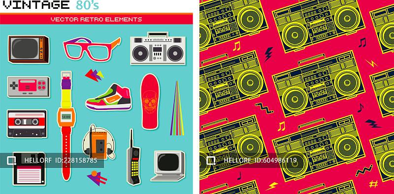手提式烙印机_80'年代复古未来风格|平面-插画-空间|资讯|站酷海洛供稿指南 ...