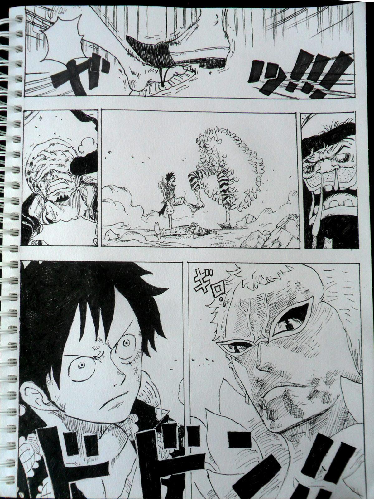 海贼王动漫781话最后页临摹|漫画|其他漫画|血动漫梦的舞台免费图片