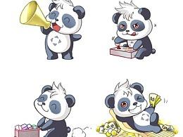 熊猫MIMI卡通形象设计