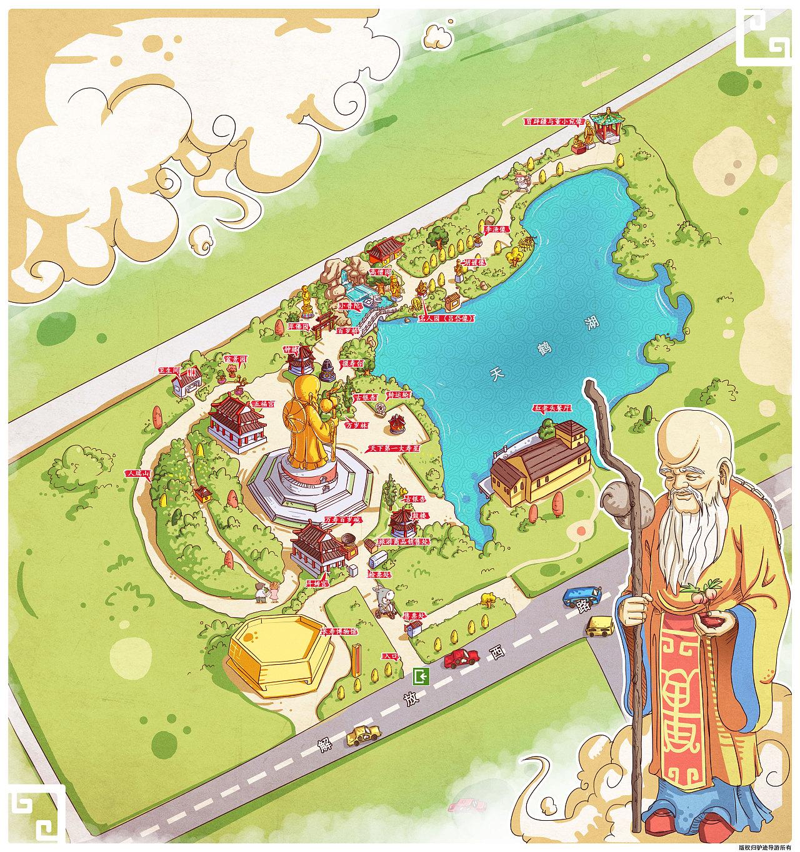 昆山公园_景区手绘地图|动漫|其他动漫|老保 - 原创作品 - 站酷 (ZCOOL)