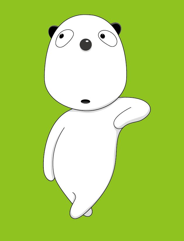 笨熊智酷卡通形象设计图片