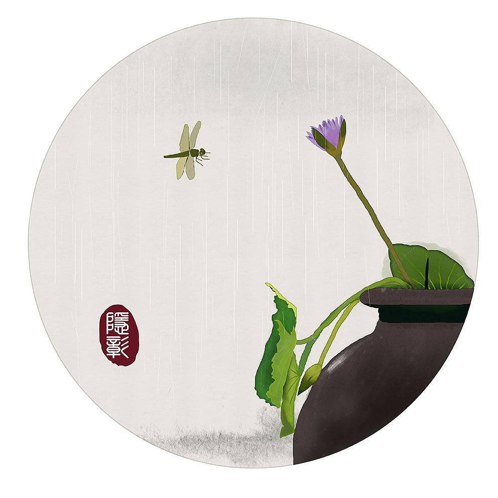 24节气立夏古风原创手绘新中式水墨画