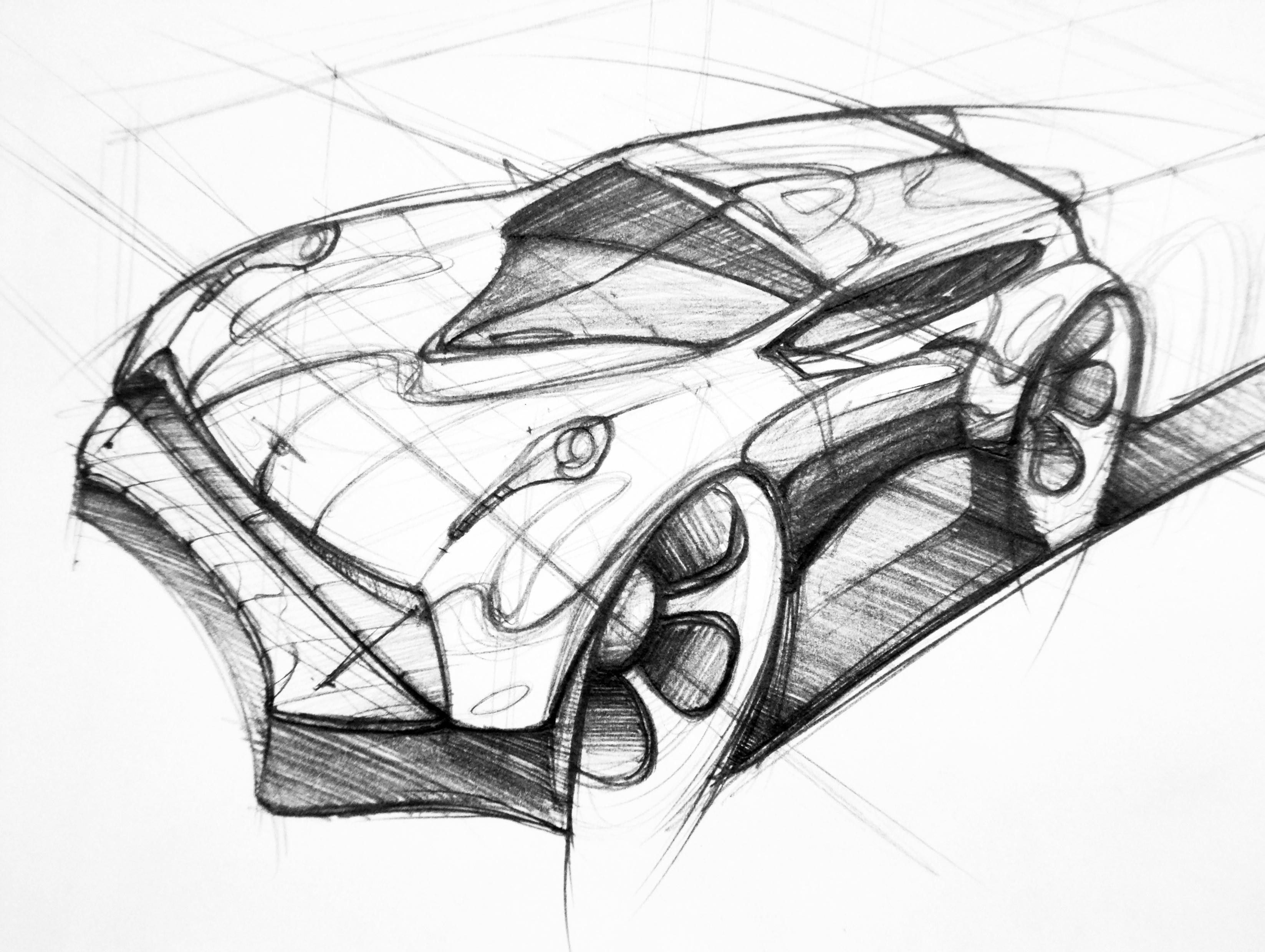 汽车手绘草图