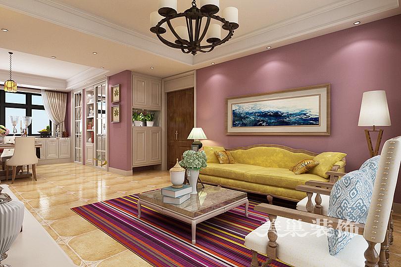 康桥九溪郡装修效果图120平三室两厅简欧风格设计方案