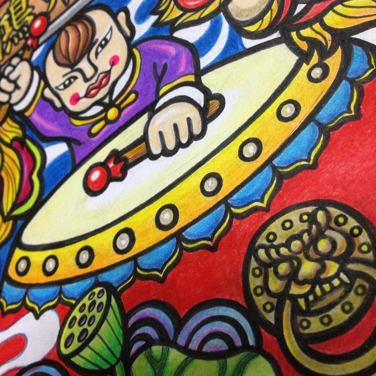 南京奥体某功夫窖菜酒楼手绘涂鸦墙壁画新作|插画