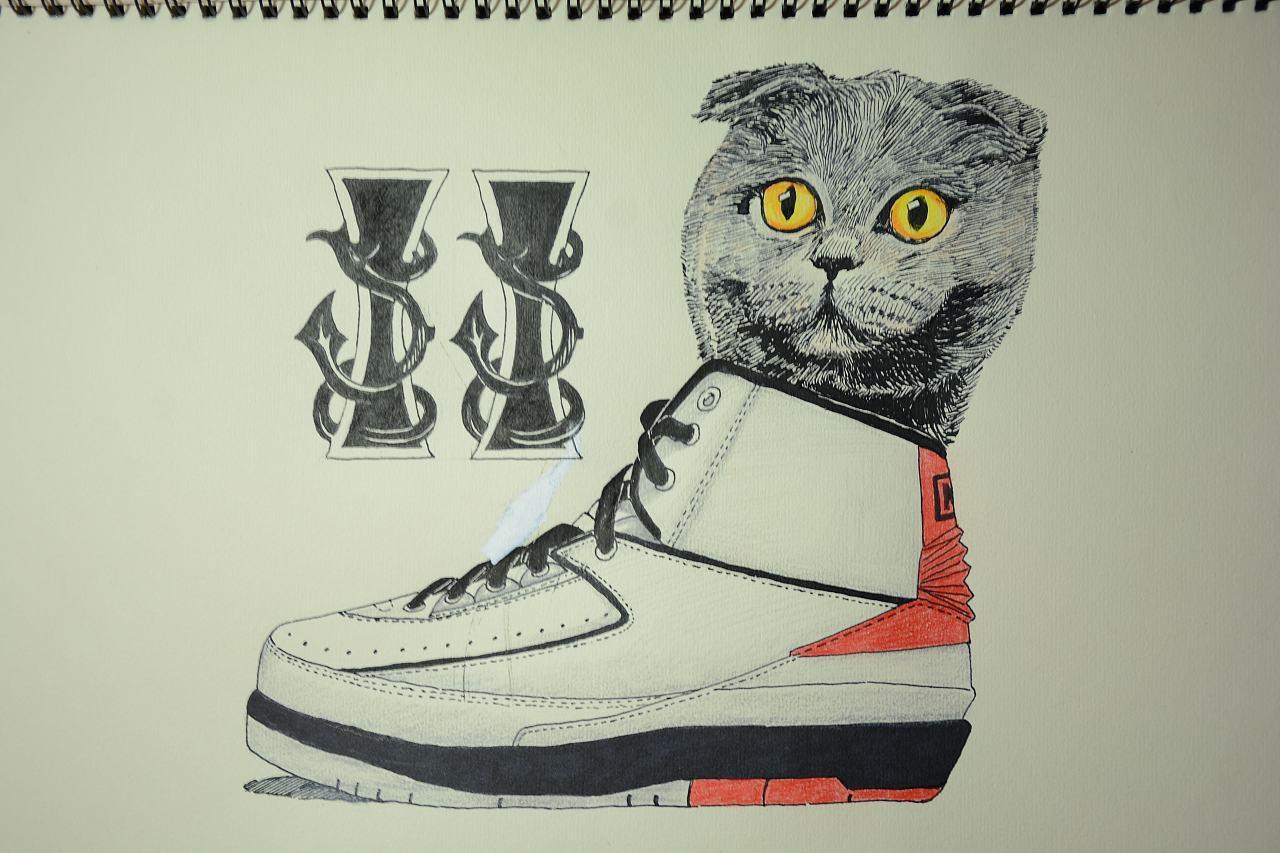 手绘乔丹23代球鞋