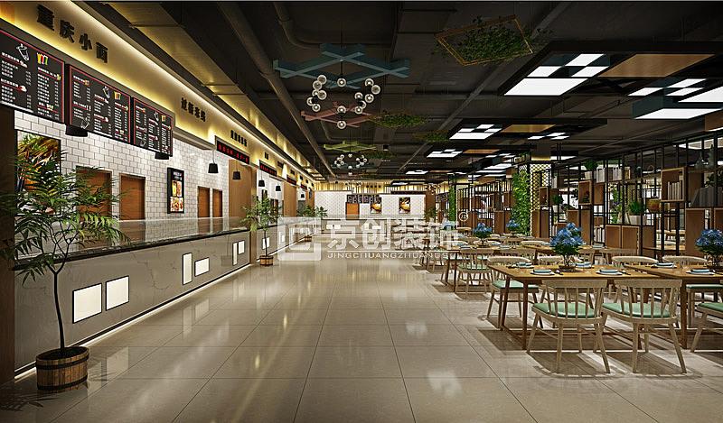 郑州高校案例装修设计,郑州职业技术学校餐厅装修餐厅弱电竣工图如何绘制图片