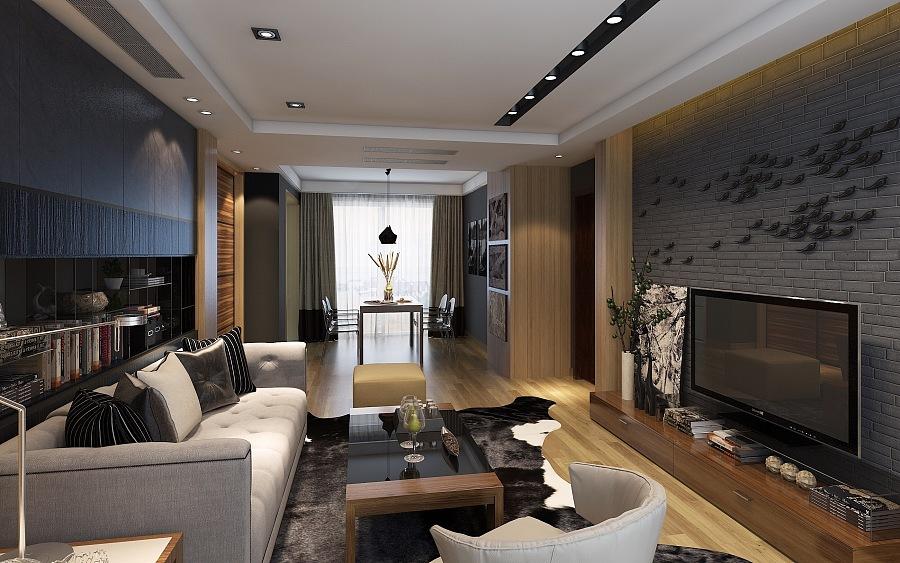 CH翡翠湾-后现代|室内设计|空间/绘制|B_tadpo景观工程建筑图竣工收费标准图片