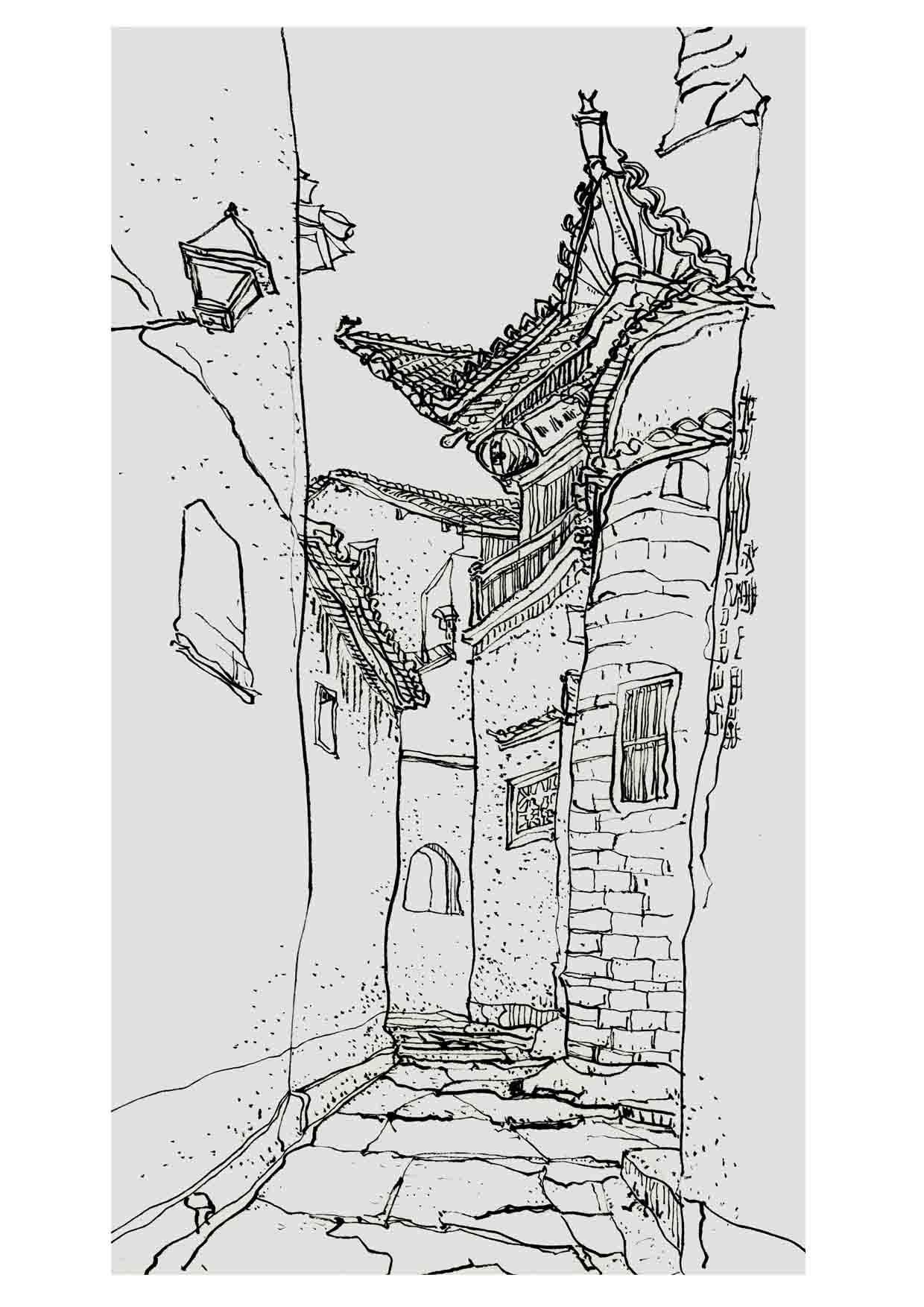 西递速写_《速写——宏村、西递》2008年黄山写生作品 插画 商业插画 ...