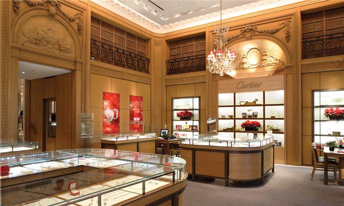 成都珠宝店装修设计案例分享--Cartier珠宝店装