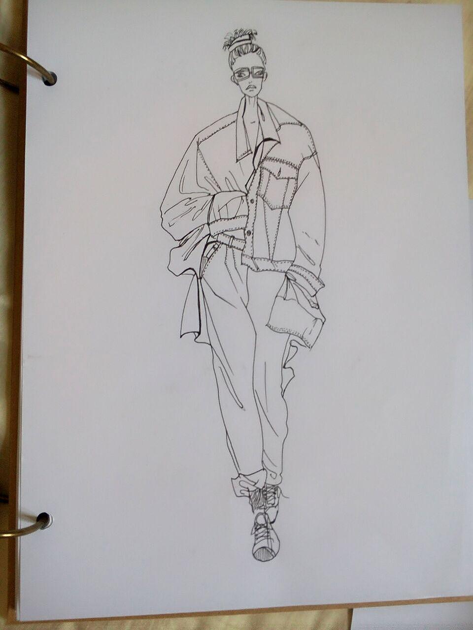 服装手绘作品