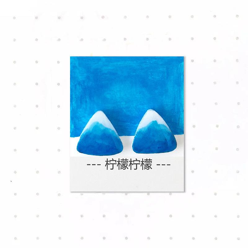 三角形多色彩手绘耳钉|工业/产品|礼品/纪念品|柠檬