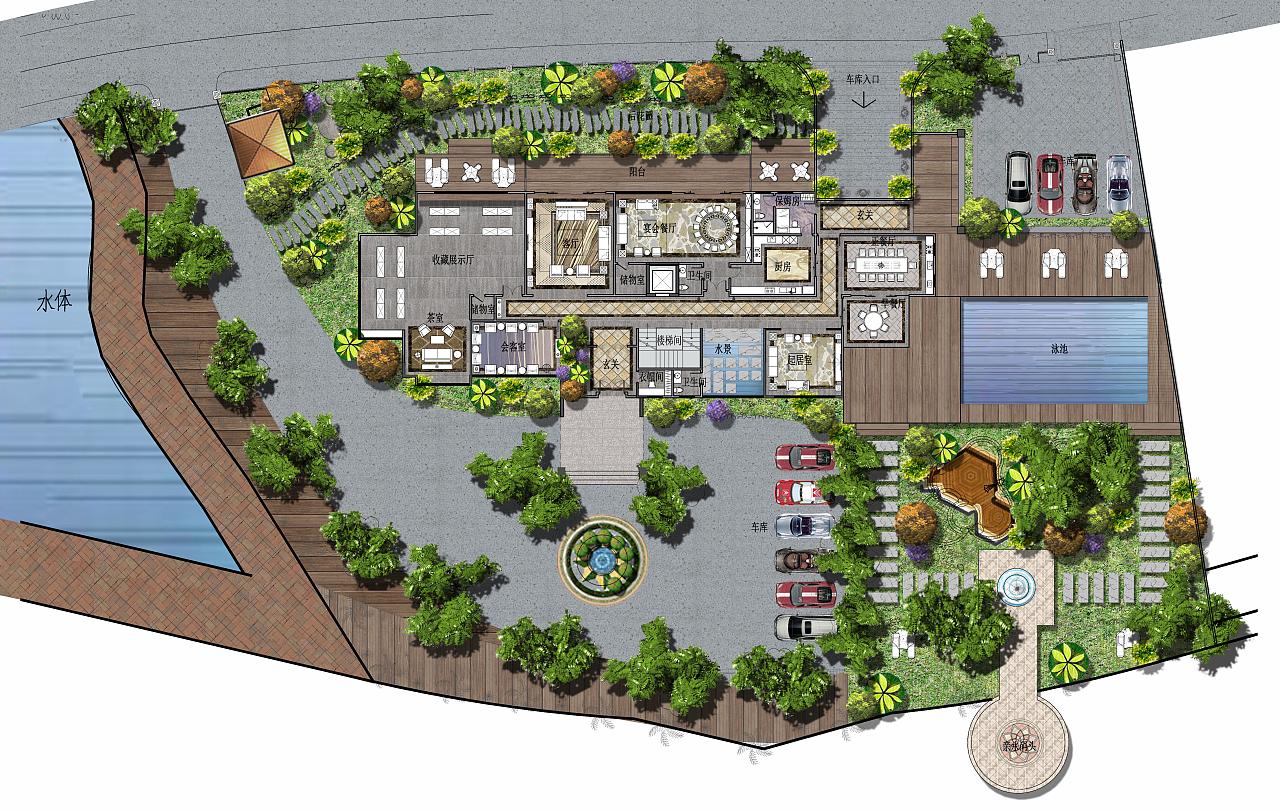 某温泉城别墅平面设计图