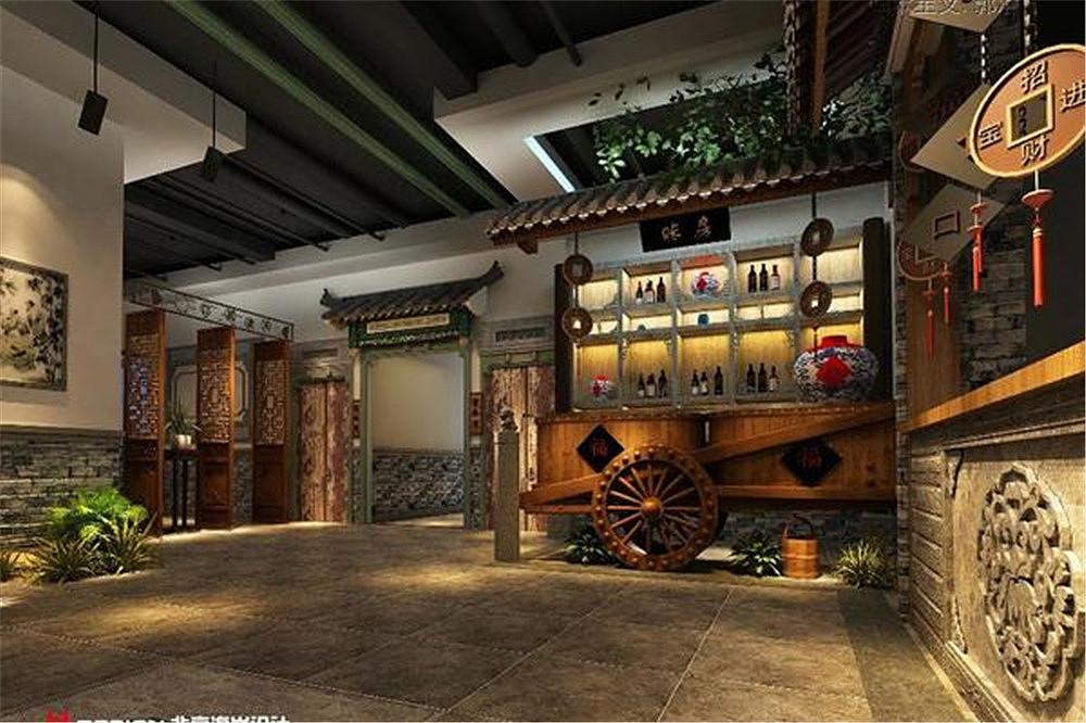 北京福口居北太平庄店字体设计餐饮|连体|室内设计花式空间案例设计图片