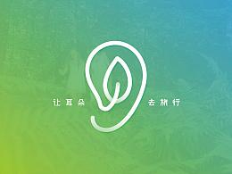榴莲之声 - 让耳朵去旅行 电台logo vi 设计 厦门vi设计